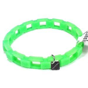 👨THOMPSON of LONDON Box Chain Rubber Bracelet